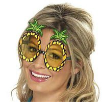 beaches hawaii - Halloween Adult Cosutmes Sunglasses x11 cm Lady Women Hawaii Beach Pineapple Fashion Funny Luau Party Adult Glasses Holiday Accessories