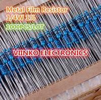 Venta al por mayor-Libre 1000pcs 680 ohmio 1 / 4W 680R Resistor de película de metal 680ohm 0.25W 1% ROHS