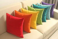 Wholesale Solid color Cushion Sofa Car Room Office Cushions Decorative Throw Pillows include filler