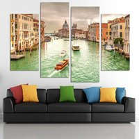 beautiful house painting - Hot Sell Panel Beautiful Watery City Large HD Picture Modern Home Wall Decor Canvas Print Painting For House Decorate No Frame