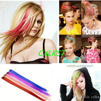 Wholesale Hot Sales Colorful Hair Clip On Hairpieces Clip In Hair Extensions Straight Curly Top Fashion Hair Extension