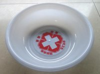 baby wash basin - 10pcs Plastic basin red cross medical white baby basin baby wash basin