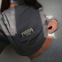 Wholesale 2017 Autumn Winter Women Hoodies quot YEEZUS TOUR quot Letter Printed Sweatshirts Casual Sports tracksuit Streetwear Pullovers Harajuku