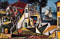 Wholesale Mediterranean Landscape Pablo Picasso famous paintings oil canvas reproduction High quality Hand painted