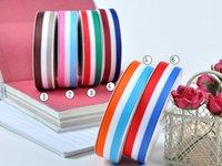 bag grosgrain ribbon - 4Sizes quot mm quot mm quot mm quot mm Printed Rainbow Sporty Stripe Grosgrain Ribbon DIY Zakka Bag Garment A3