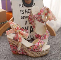 Wholesale summer woman sandal for women wedges platform sandals high heels shoes net fabric lace belt