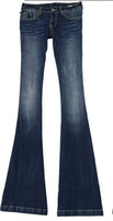 bellbottom jeans - HOTsale washed blue cultivate one s morality carry buttock bellbottom jeans