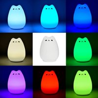 babies modes - Portable Silicone Soft LED Multicolor Night Lamp light Warm White Breathing Dual Light Modes Sensitive Tap Control for Baby Room