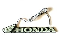 Wholesale 1 piece small size cm High quality LED Colorful Light Stick LOGO Sticker Auto Car Sticker for hond