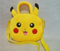 Wholesale Poke Go Plush Backpack Cute Pocket Monster Stuffed Toys Gift For Baby Kids Pikachu Figure Plush Handbag Children School Bag