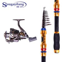 Wholesale High Quality m Carbon Telescopic Fishing Rod Combo Series BB Metal Spinning Fishing Reel Fishing Tackle Rod Combo