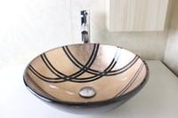 Wholesale Glass Basin Vanity Bathroom Glass Basin Glass Bowl clear tempered glass basins for bathrooms glass bowl sinks N