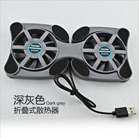apple laptop cooling pad - Foldable USB Cooling Fan Cooler Cooling Pad Quiet Stand Double Fans For to inch Notebook for apple Laptop PC high quality