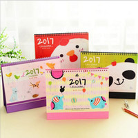 Wholesale quot Happy Zoo quot Sep to Dec Desk Calendar Big Size Scheduler Cute Agenda Monthly Planner Kawaii Animals Checklist Memo Gift