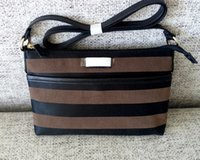 Wholesale new arrival women fashion classic stripes canvas portable shopping shoulder bag special offer