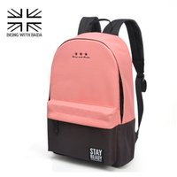 backpacking back packs - 2016 Stylish Canvas School Backpacking Backpack Children Schools Back Pack Leisure Korean Style Knapsack Bags for teenage Girls