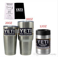beer drinking mugs - Hot oz oz ml OZ ml Yeti Cup Stainless Steel Drinks Cooler Personalized Rambler Tumbler Beer Mug Bilayer Vacuum Insulated