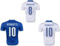 Wholesale 2016 new italy Pelle soccer jersey camisetas de futbol PIRLO El Shaarawy Balotelli MARCHISIO Verratti italia jersey football shirt