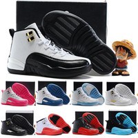 basketball gym flooring - New air retro ovo white Kids Basketball shoes Gym red French Blue Gamma Blue the master Taxi Playoffs Men Sneakers Boots