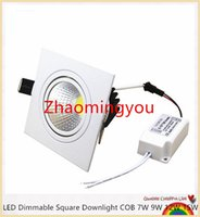 Wholesale YON Super Bright Recessed LED Dimmable Square Downlight COB W W W W LED Spot light decoration Ceiling Lamp AC V V