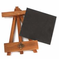 Wholesale Funny Design Wooden Chalkboard Blackboard with Shelf Messages Shopping List Memo Board Teaching Stationery Pattern Random