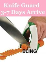 Wholesale Safe Slice Kitchen Knives Holder Stand Block Cooking Tools Accessories Mix Color
