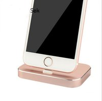 apple flat panel - 8 Pin Aluminum Metal USB Charger Dock For Apple iPhone S S SE iPad Data Sync Desktop USB Charging Dock Station