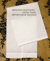 american made linens - Home Textiles American Style white Linen Hemstitched Edges GuestTowel quot X22 quot Beautiful Decoration makes any guest feel welcome