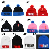 aa hat - YMCMB Knitted Ski Beanie Hats Fitted Sport Adjustable Winter Pom Beanie Hats with Stretch Cotton Wool for Men AA