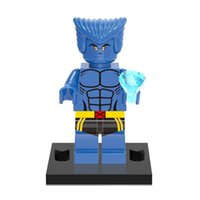 beast x men - Beast X MEN Hank Wolverine Super Heroes THE Avengers Minifigures Assemble Building Blocks Kids Learning Toys Gifts