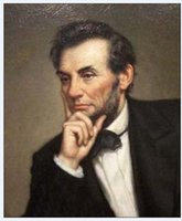 abraham lincoln art - Hand painted Portrait oil painting Modern Wall Decor art on canvas Unframed ABRAHAM LINCOLN x36inch k015