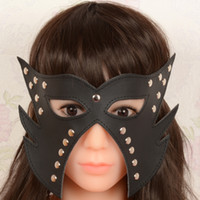Wholesale black Sex Headgear Head Mask Hoods BDSM Gear adults Fetish Toys game red leather Mask adult toys juguetes sexuales