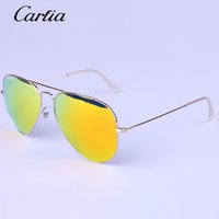 Wholesale Carfia brand designer Hot Sale Mirror Sunglasses Summer Sunglasses for Men Women UV Protect Sunglasses mm mm Original Leather Box