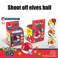 big red shot - Hot Sale Shoot off Elves Ball Poke Plush toys Pikachu Elf Ball Children s Toys Magic Baby Cartoon Anime Peripheral Ball