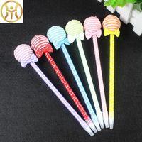 Wholesale Cute Lollipop Ballpoint Pens for writing Kawaii Bending Ball pen Stationery office canetas School Supplies escolar