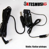 audio pickups - Violin guitar pickups KQ Piezo Contact Guitar Pickup Transducer with Volume Controller Tuner Audio Cable Sticker