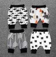 Wholesale Boys Girls Calf Length Harem Pants Children Summer Pants Batman Shark Whale Bear Arrow Patterns KIKIKIDS Maka Kids