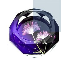 Wholesale more colorful living room office personality fashion crystal glass shtray more size