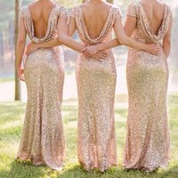 beauty cocktail dress - Newest Wedding Formal Dress Occasion Dresses Luxury Golden Sexy Paillette Backless Style Long Best Price For Party Beauty High Quality