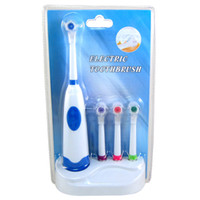 Wholesale New design Electric soft toothbrush Rotating Anti Slip waterproof revolving toothbrush handle brush heads Oral Hygiene Dental Care