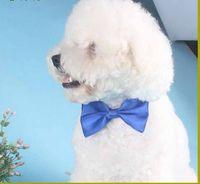 Wholesale Polyester Silk Pet Dog clothing Necktie Adjustable lovely Bow Ties Necktie puppy pet bows neck tie pet collars neckties