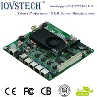 Wholesale Economical gigabit ethernet D2550 Processor motherboard mbps Lan ports suitable for U Soft Router Firewall Server VOIP Server