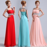 big red sales - Long Maternity Bridesmaid Dresses Beads Crystal Sequins A Line Prom Evening Dresses Elegant Formal Wedding Guest Dress Big Sale DHD