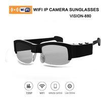 Wholesale 2016 Mini Camcorders sun smart glasses polarized Full HD Wifi control P Sunglasses Men Women sport sunglasses cycling camera