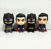 batman collectables - 50sets anime Movie Batman VS Superman figure Batman and Superman PVC Action Figure Collectable Model Kids Toys cm
