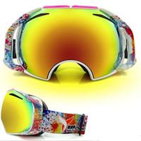 Wholesale Eddie skiing mirror double layer anti fog lens ski eyewear big spherical