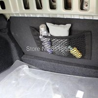 Wholesale Interior Accessories Stowing Tidying Universal Rear Trunk Cargo Mesh Net Bag Flexible Nylon Car Rear Cargo Trunk Storage Organizer Net
