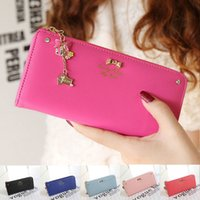 Wholesale Pendant Ladies Women Wallets PU Leather Purses Long Wallet Women Elegant Portefeuille Femme Diamond Women s Wallets