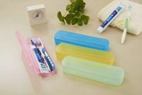 Wholesale HOT Portable Toothbrush Cover Holder Outdoor Travel Hiking Camping Toothbrush breathable anti bacterial protective toothbrushes plastic box