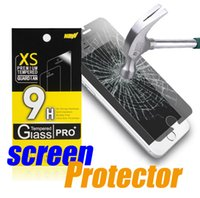 anti fingerprint - iPhone S Tempered Glass Screen Protector Anti shatter Anti fingerprint for iPhone s Plus Samsung S7 Edge with retail package